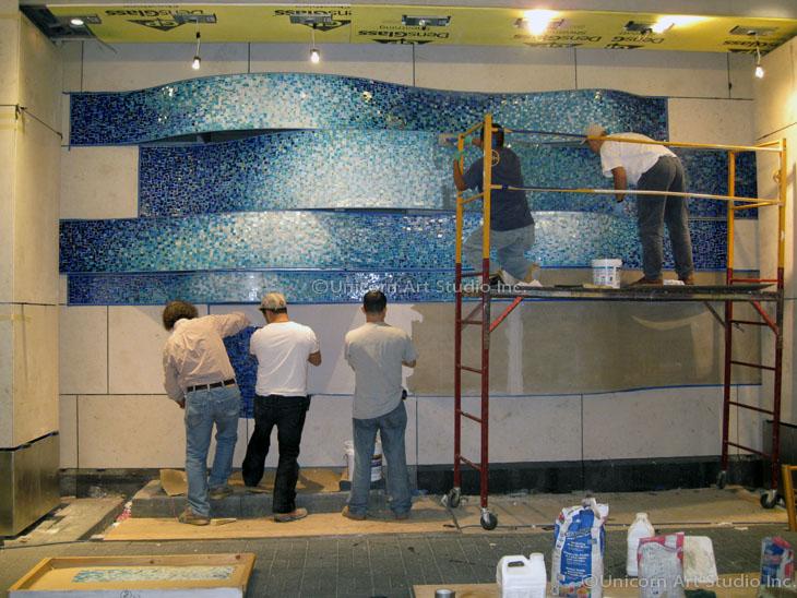Mosaic Moving Water