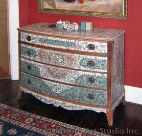 mosaic bedroom furniture. Custom Mosaic Antique Furniture Bedroom