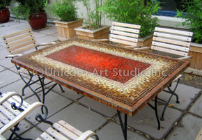 Mosaic outdoor dining table gallery dining table set designs mosaics custom made outdoor mosaic tables onassisstylefo & Mosaic Dining Tables Image collections - Dining Table Set Designs