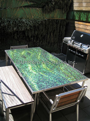 These Custom Made Mosaic Tables Are Created From Durable Materials And Are  Great For Outdoor Spaces Like Verandas, Patios, Decks, Pools Or Balconies.